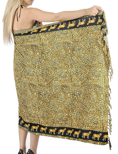 LA LEELA Women's Beachwear Bikini Wrap Cover up Swimsuit Dress Sarong 1 ONE Size
