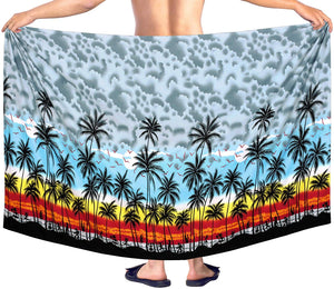 LA LEELA Swimwear Bathing Suit Cover ups Mens Sarong Wrap Pareo Swimsuit Beachwear Towel