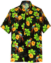 Load image into Gallery viewer, la-leela-shirt-casual-button-down-short-sleeve-beach-shirt-men-pocket-printed