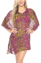 Load image into Gallery viewer, la-leela-chiffon-printed-cover-up-tassel-women-osfm-8-14-m-l-pink_6180