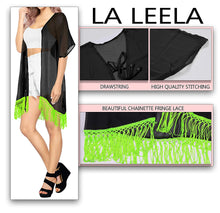 Load image into Gallery viewer, la-leela-womens-summer-casual-loose-swing-t-shirt-beach-sundress-kaftan-cover-up