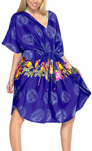 Load image into Gallery viewer, Bikini Cover up Dress Aloha Drawstring V Neck Swimsuit Womens Caftans BeachWear