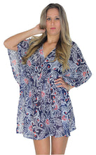 Load image into Gallery viewer, la-leela-cover-ups-beach-bikini-wear-swimsuit-caftan-dress-womens-printed