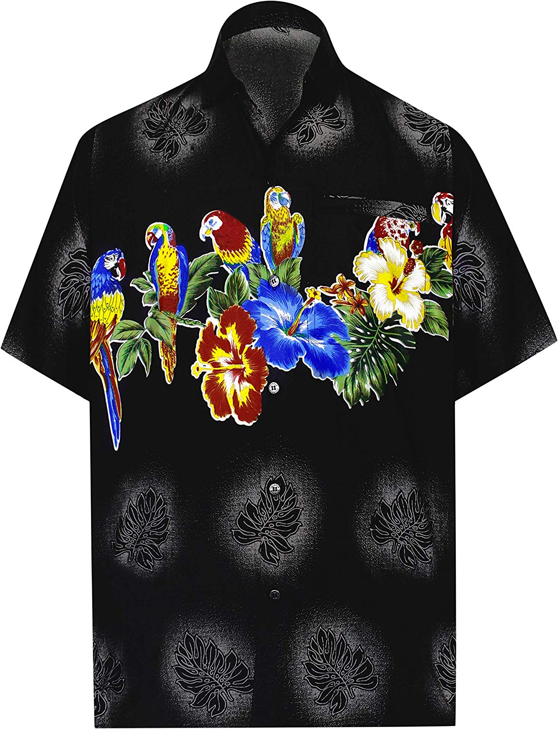 42464de4 ... Load image into Gallery viewer, LA LEELA Shirt Casual Button Down Short  Sleeve Beach Shirt ...