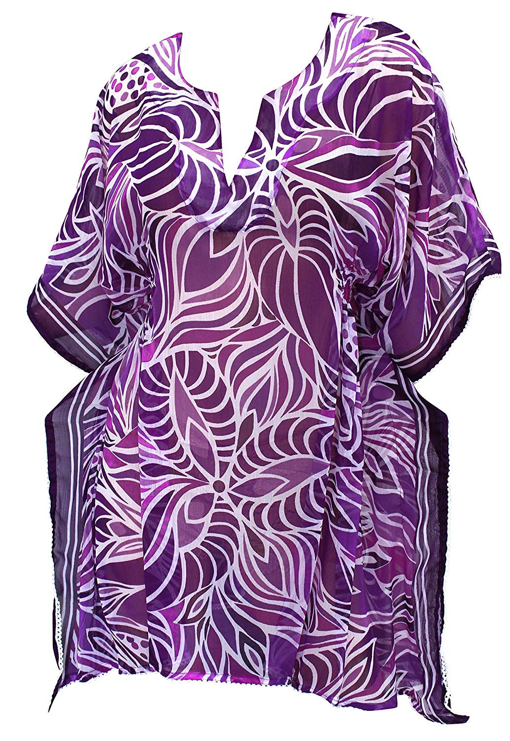 LA LEELA Bikini Swim Beach wear Swimsuit Cover ups Womens Caftan Dress Printed