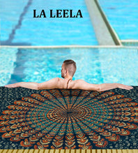 Load image into Gallery viewer, LA LEELA Men Sarong Swimwear Beachwear Wrap Swimsuit Pareo Cover up Bathing Suit