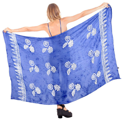 LA LEELA Womens Plus Size Sarong Swimsuit Cover Up Beach Wrap Skirt Sarong Wraps for Women Large Maxi EI