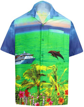 Load image into Gallery viewer, LA LEELA Men's Aloha Hawaiian Shirt Short Sleeve Button Down Casual Beach Party