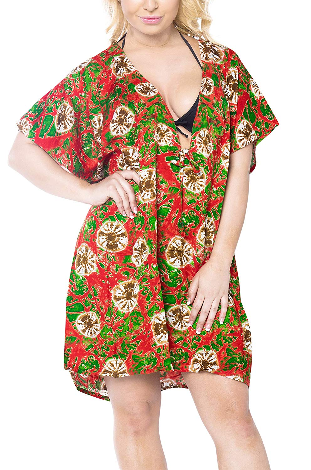 42da9ebb0c ... Load image into Gallery viewer, LA LEELA Coverup Beach Bikini Swimwear  Swimsuit Caftan Dress Women ...