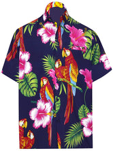 Load image into Gallery viewer, LA LEELA Shirt Casual Button Down Short Sleeve Beach Shirt Men Aloha Pocket 165