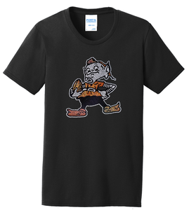 13ef9811 Cleveland Browns Elf Football Ladies Bling Women's T-Shirt Size S-4XL