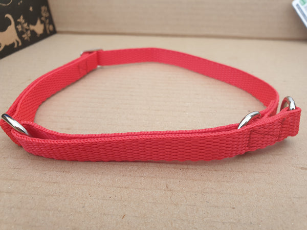 M 13mm Adjustable All Web Half Check Dog Collar