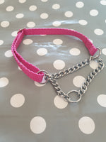 S 10mm Adjustable Half Check Dog Collar
