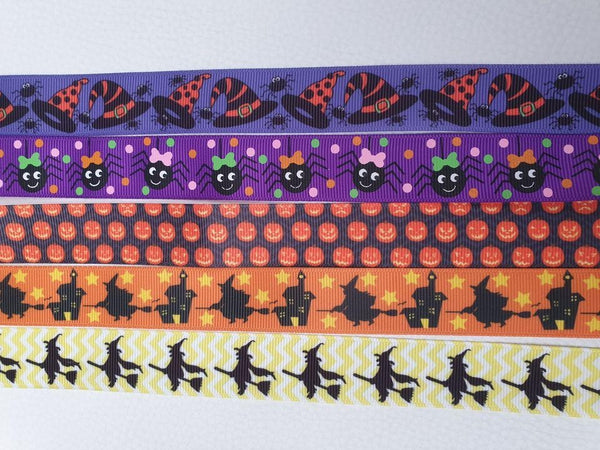 Halloween Patterned L 25mm Adjustable Clip Collar