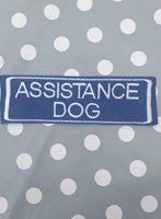 "Embroidered Velcro Harness Patch ""Assistance Dog"""