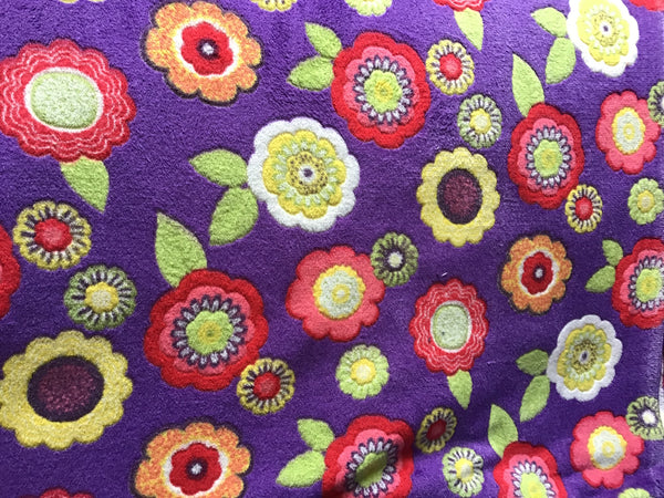 Purple Flowers Dog Blanket