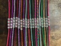 "Beaded 50"" Satin Cord Slip Show Lead Plain"
