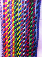 "28"" Braided Paracord Slip Collar Multi Colour"