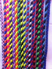 "34"" Braided Paracord Slip Collar Multi Colour"