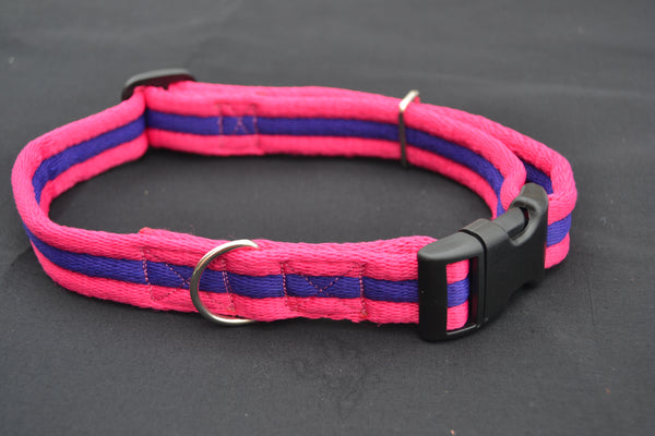 L 25mm Padded Airweb Adjustable Clip Dog Collar