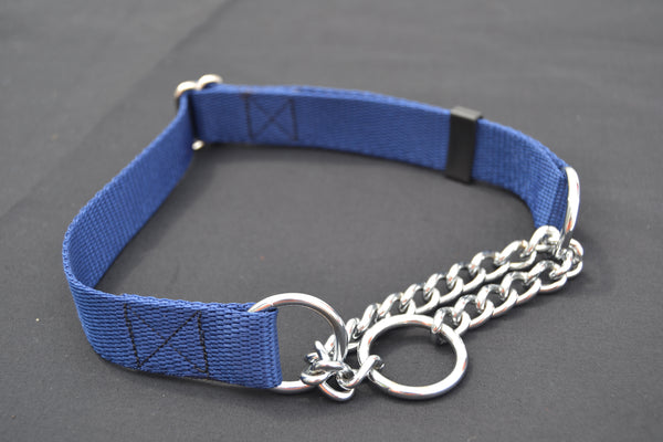 L 25mm Half Check Dog Collar