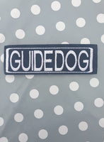 "Embroidered Velcro Harness Patch ""Guide Dog"""