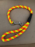 "25"" Chunky Braided Paracord Dog Lead Multi Colour"