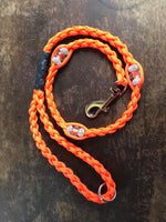 "30"" Braided Beaded Paracord Dog Clip Lead"