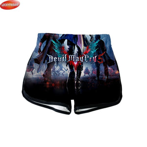 99624a61f Devil May Cry 5 Summer Sexy Shorts for Women 3D Printed Hot Game Fashion  Cool Style Shorts Dante Nero DMC Casual Girls Wear