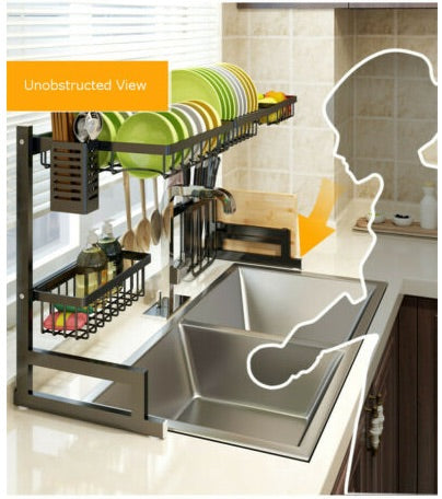Vortech Stainless Steel Double Dish Rack - Unobstructed View