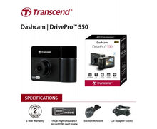 Transcend DrivePro 550 Protection both inside and out with 32G & Suction Mount