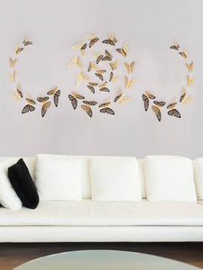 Golden Flutter Wall Art 12pcs