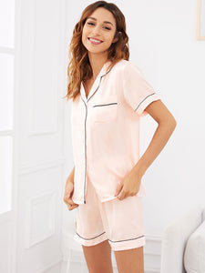 Binded Blush Crush Pajama Set