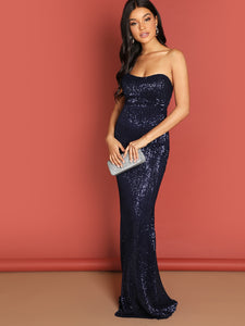 Marla Sequin Evening Gown