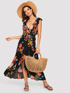 Fleur Del Mar Wrap Dress