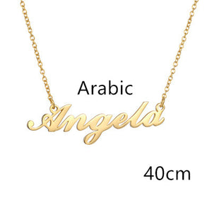 Custom Personalised Necklace (4 sizes - silver, gold or rose gold)