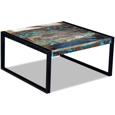Aurora Solid Reclaimed Wood Coffee Table - 80cm