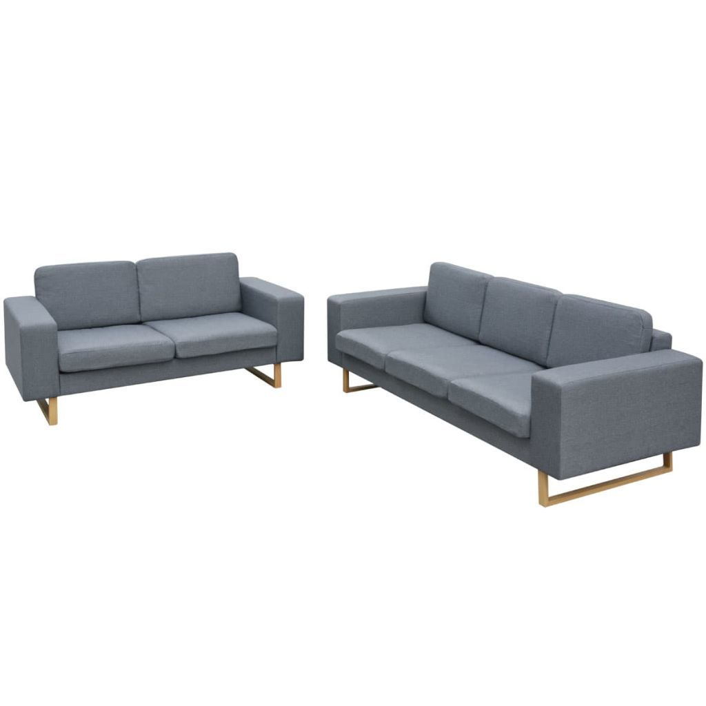Riley 3 Seater + 2 Seater Fabric Sofa Set (2 Colours)