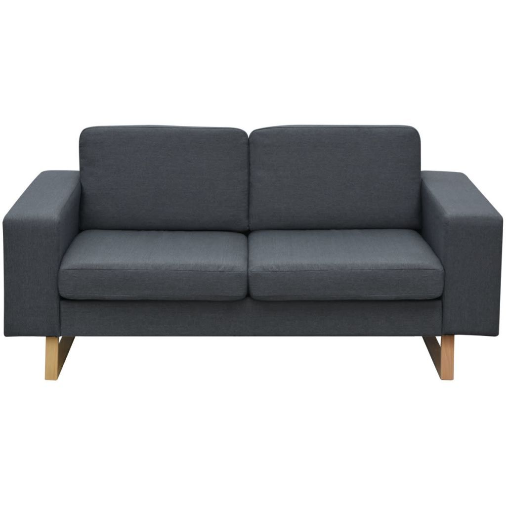 Riley 2 Seater Fabric Sofa - Slate Grey