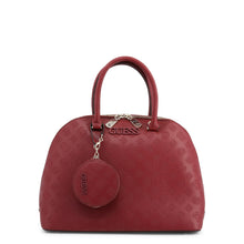 Guess Janelle Logo Debossed Dome Satchel