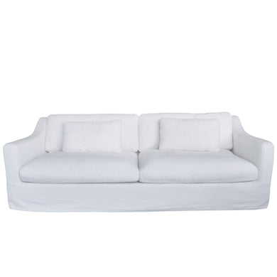Slip Cover for Nantucket Hamptons 3 Seater Sofa - Crisp White