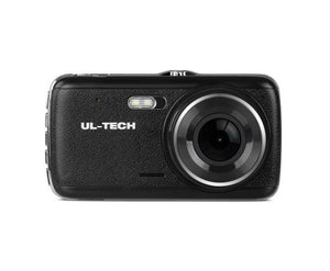UL Tech 4 Inch Dual Camera Dash Camera with 32GB & Suction Mount - Black