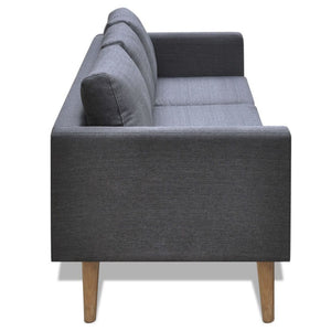 Indiana 3 Seater Fabric Sofa (2 Colours)