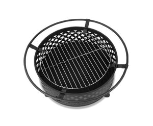Grillz 30 Inch 2 in 1 Portable Outdoor Fire Pit and BBQ