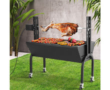 Grillz Electric Rotisserie BBQ / Charcoal Smoker / Grill Spit Roaster