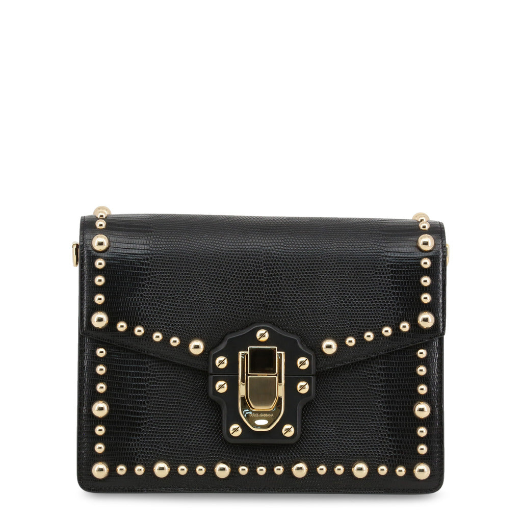 Dolce & Gabbana Metallic Pearls Shoulder Bag