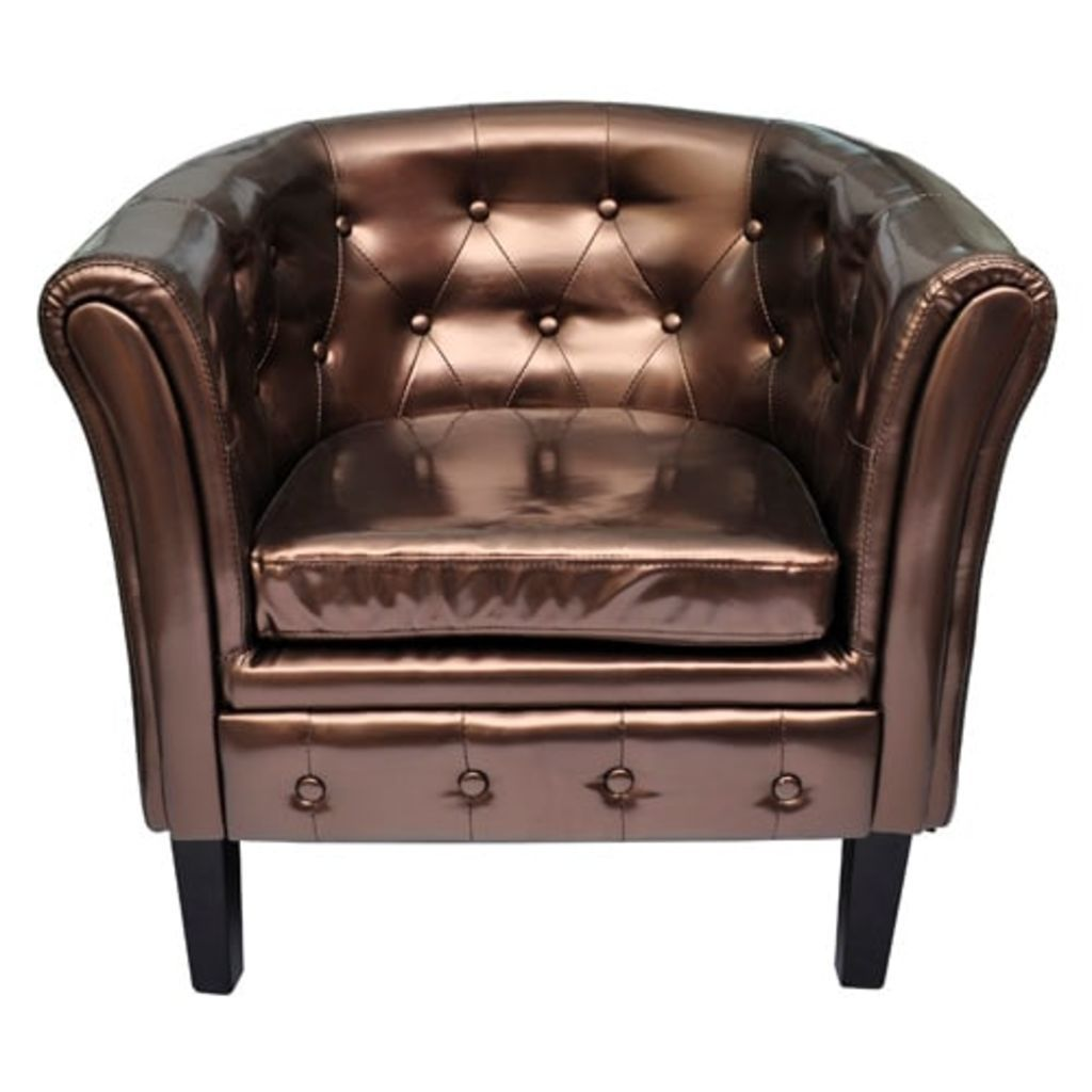 Glam Luxe Tub Chair - Bronze