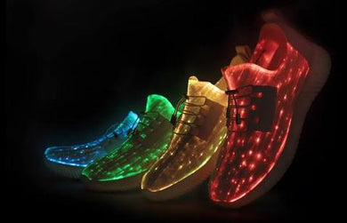 Lumiere Fibre Optic LED Light Up Glow Unisex Shoes Sneakers Trainers