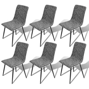 6 x Narcissa Bi-cast Leather Dining Chairs Set - Dark Grey