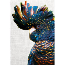 Black Cockatoo Side Profile, Linen Canvas - 118cm x 80cm
